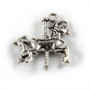 Carousel Horse 3D Sterling Silver Charm